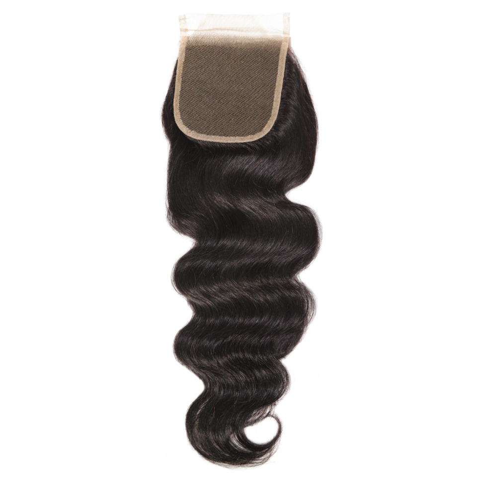 Natural Bodywave Closure 4x4 Free Parting