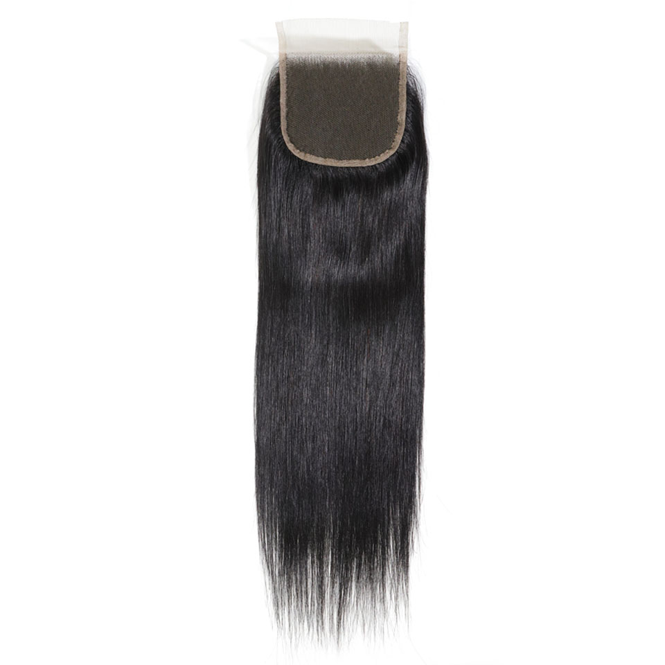 Natural Straight Closure 4x4 Free Parting