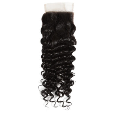 Virgin Remy Deep Wavy Lace Closure 4X4